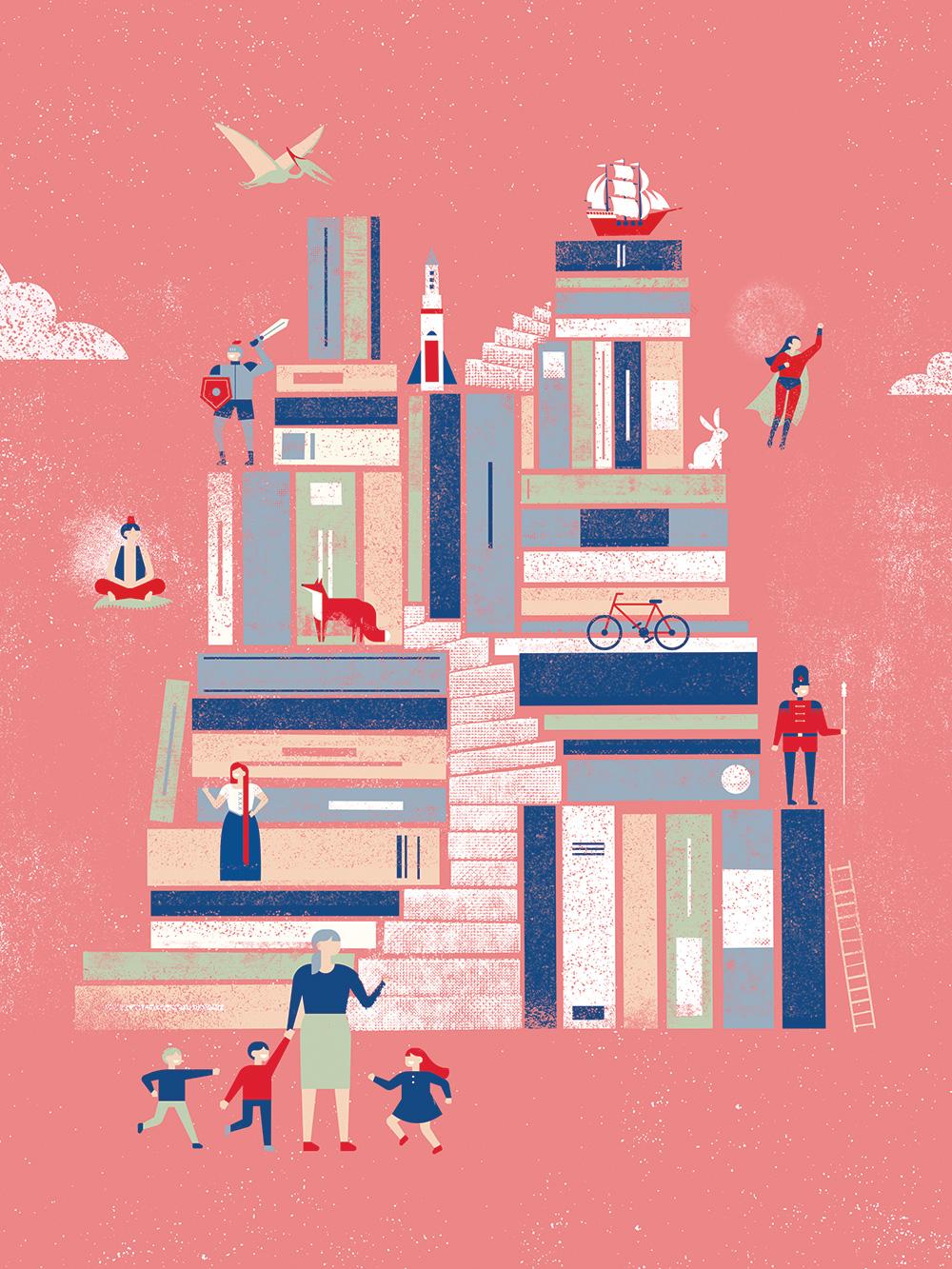 Lire et faire lire - Identité visuelle Rencontres nationales 2019 - Illustration
