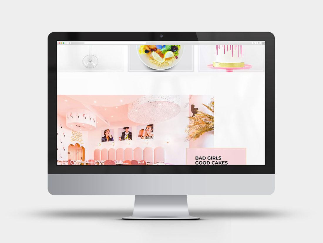 Bad Girls Good Cakes - Design et intégration du site internet